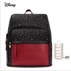 Disney Leather Diaper Backpack/Bottle Warmer